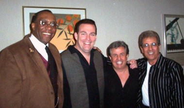 Melvin George, John Mulrooney, Billy Garrin and Sal Richards Backstage at the Long Island Comedy Festival
